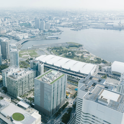 パシフィコ横浜の発泡ウレタン吹付け施工も当社が請け負いました